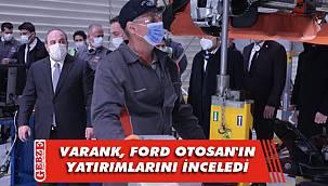 Bakanı Varank, Ford Otosan'ın Kocaeli'deki fabrikalarını ziyaret etti
