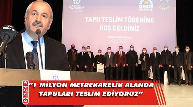 Balçık'taki hak sahipleri tapularına kavuştu