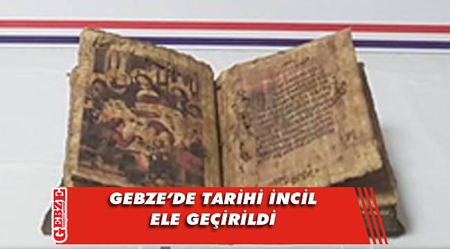 Eskihisar'da tarihi İncil yakalandı; 4 gözaltı
