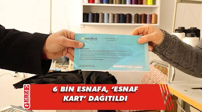 Büyükşehir'in esnaf destek kartları dağıtıldı