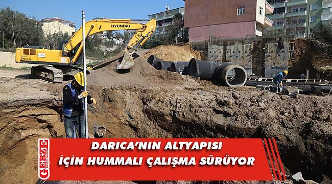 Darıca'daki altyapı çalışmaları son sürat