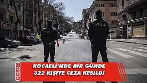 Kuralları ihlal eden 322 kişiye para cezası