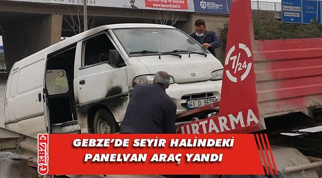 Gebze'de korkutan araç yangını