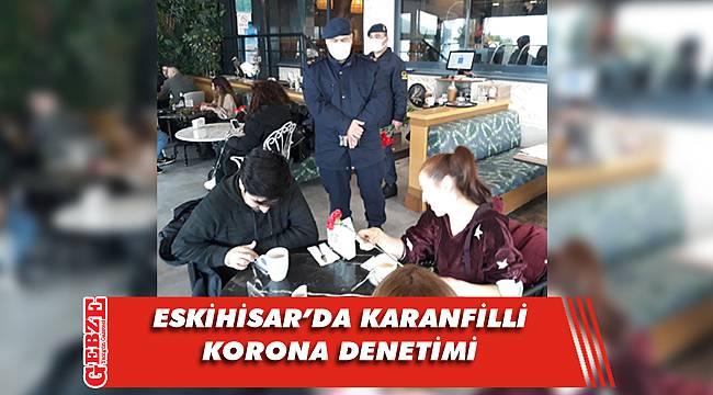 Jandarma Eskihisar'ı denetledi