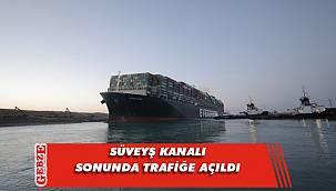Karaya oturan dev gemi hareket etti