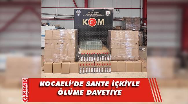 Kocaeli'de 15 ton sahte içki ele geçirildi