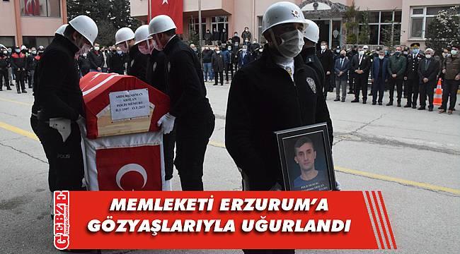 Polis memuru Arslan'a son görev
