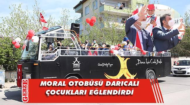 Darıca'da moral otobüsünden 23 Nisan turu