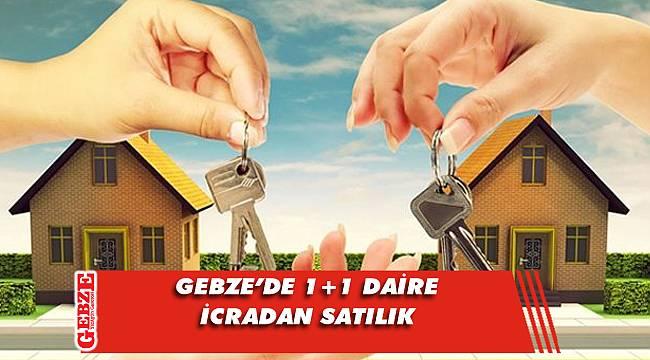 Gebze'de 1+1 daire icradan satılık
