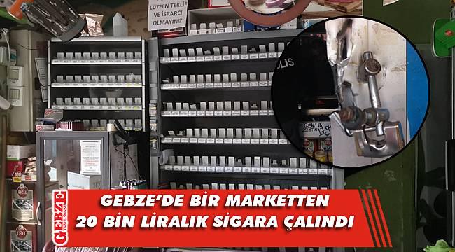 Gebze'de sigara hırsızlığı