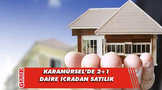 Karamürsel'de 2+1 daire icradan satılık