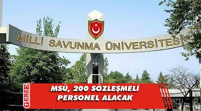 Milli Savunma Üniversitesi, 200 sözleşmeli personel alacak