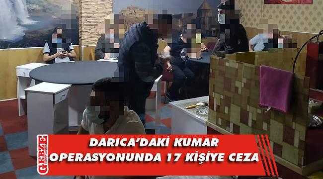 Bir kumar operasyonu da Darıca'da