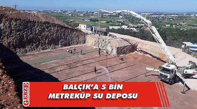 Büyükşehir'in su deposu inşası devam ediyor