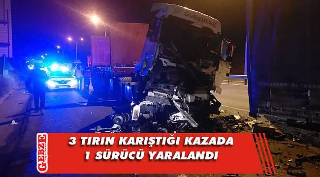 Çayırova'da korkutan kaza; 1 yaralı
