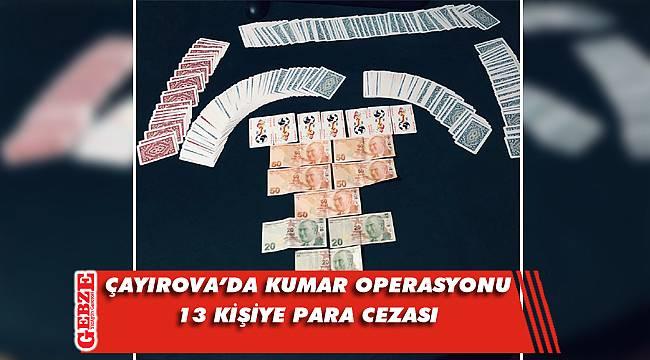 Çayırova'da kumar operasyonu
