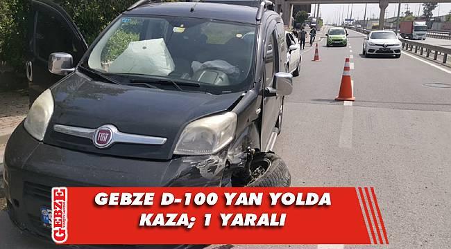 Gebze'de hafif ticari araç kamyonetle çarpıştı