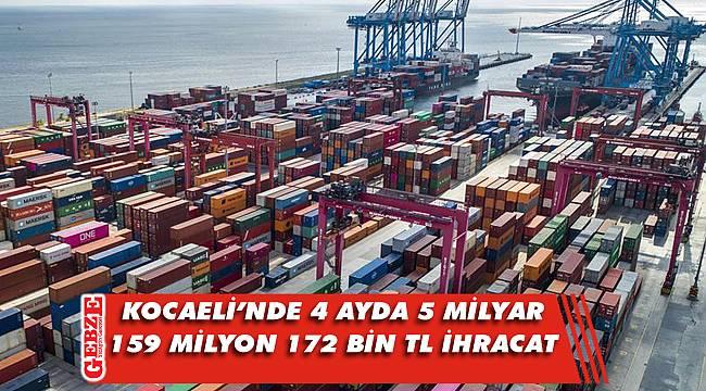 Kocaeli'nin ilk çeyrek ihracat rakamları açıklandı