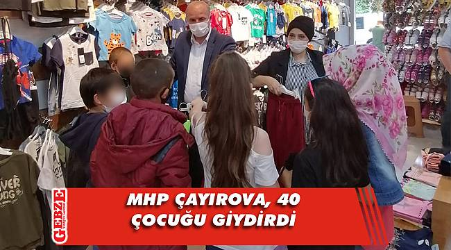 MHP Çayırova, çocukların yüzünü güldürdü