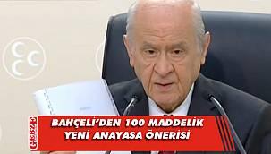 MHP Genel Başkanı Bahçeli'den Anayasa açıklaması