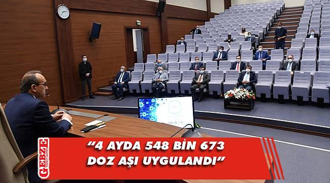 Vali Yavuz, aşı hakkında açıklamalarda bulundu