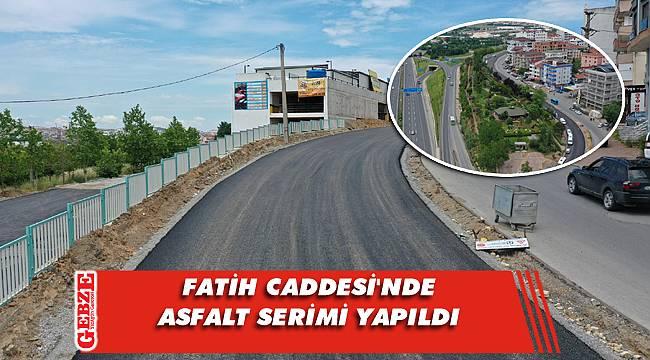 Fatih Caddesi girişinde asfalt serimi tamamlandı