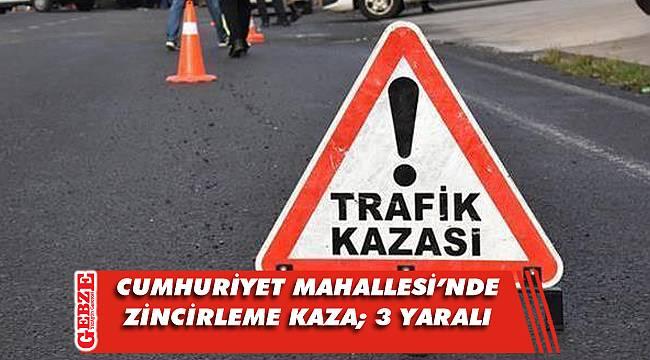Gebze'de zincirleme kaza; 3 yaralı