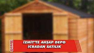 İzmit'te ahşap depo icradan satılık