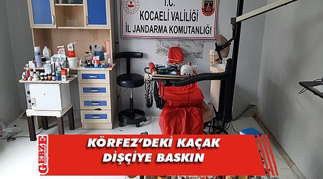 Kaçak dişçi muayenehanesine operasyon