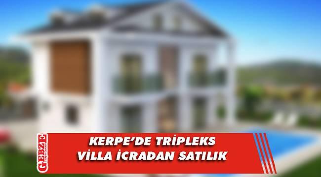 Kerpe'de tripleks villa icradan satılık