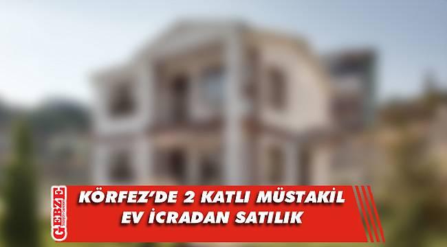 Körfez Kalburcu'da 2 katlı müstakil ev icradan satılık