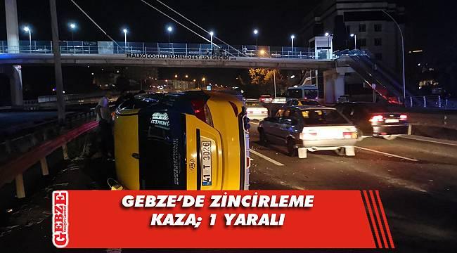 3 ticari taksi kazaya karıştı