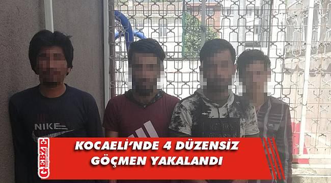 Kocaeli'nde 4 düzensiz göçmen yakalandı