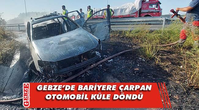 Kuzey Marmara Otoyolu'nda araç küle döndü