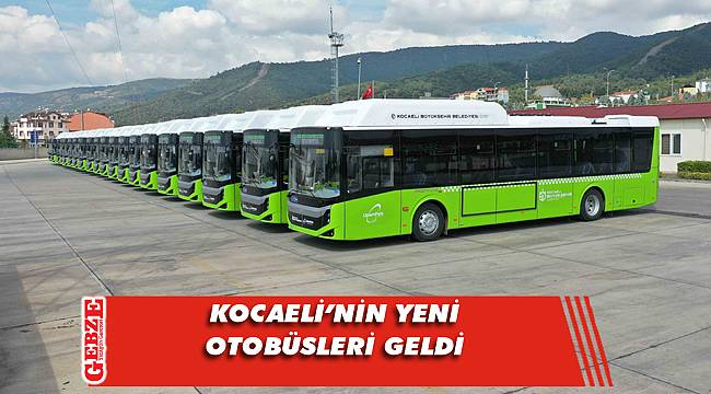 129 yeni otobüsten 20'si teslim edildi