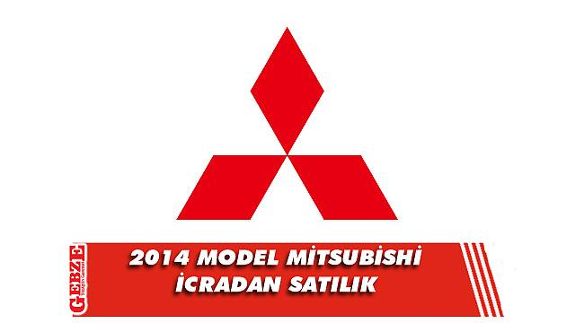 2014 model Mitsubishi marka araç icradan satılık