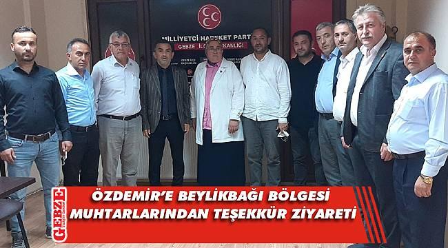 Beylikbağı bölgesi muhtarları Özdemir'e gitti