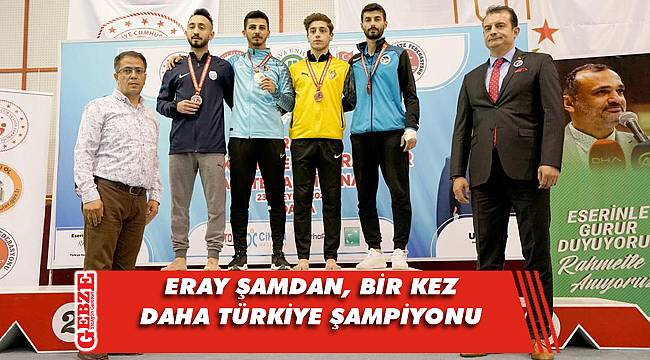 Eray Şamdan, bir kez daha Türkiye şampiyonu