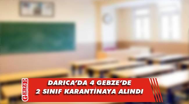 Gebze bölgesinde 6 sınıf karantinada