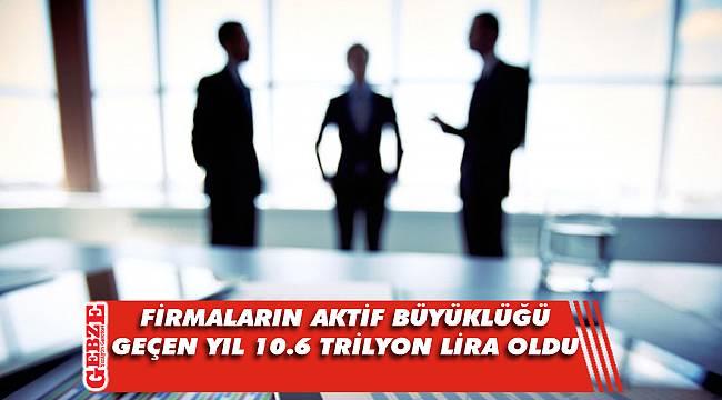 Türkiye'deki firmaların aktif büyüklüğü geçen yıl 10.6 trilyon lira oldu