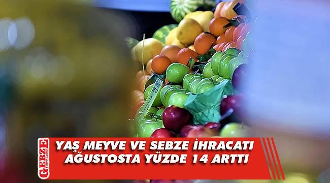 Türkiye'nin yaş meyve ve sebze ihracatı arttı