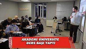 Akademi Üniversite'den öğrencilere tam destek
