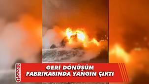 Başiskele'de fabrika yangını