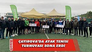 Çayırova'da ayak tenisi heyecanı yaşandı