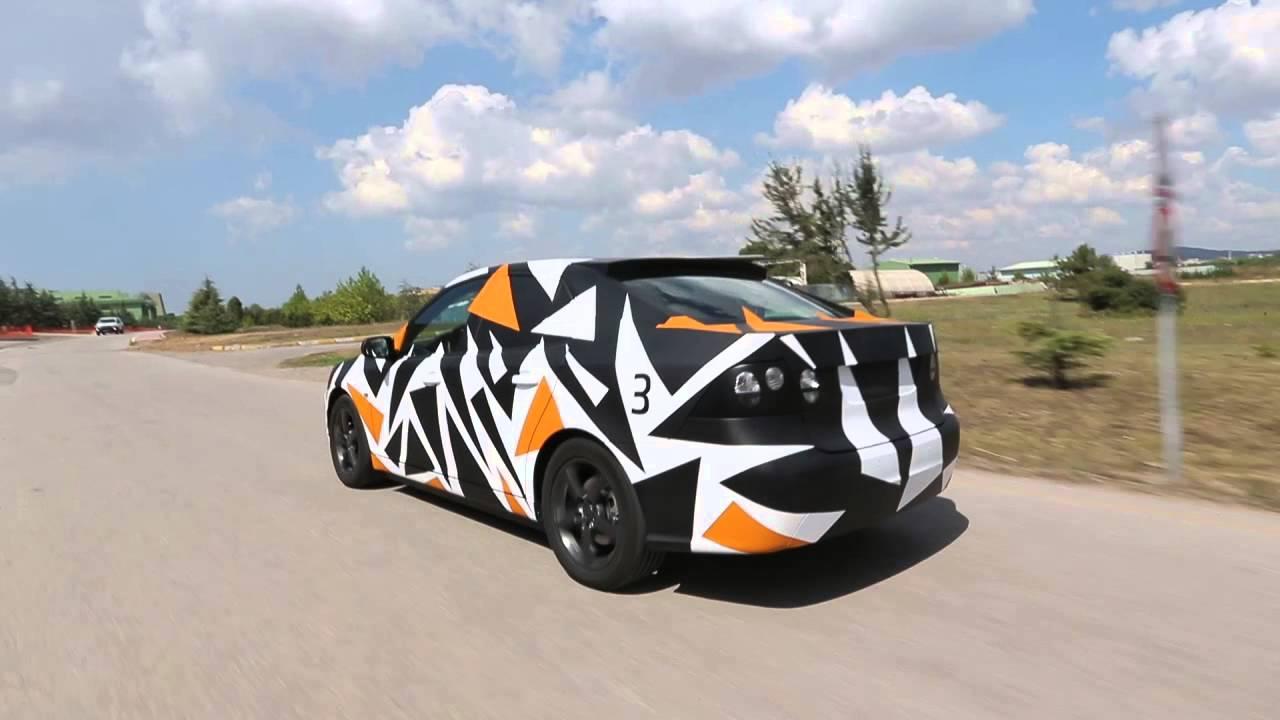 Yerli otomobil prototipinin test sürüşü